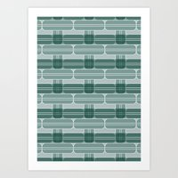 LEFKA-GREEN Art Print
