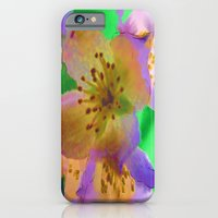 iPhone & iPod Case featuring Purple Flowers - Watercolour Painting by Amdis Rain