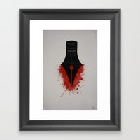 The Sword Is Mightier Th… Framed Art Print