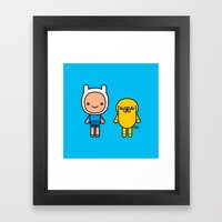 #48 Jake and Finn Framed Art Print