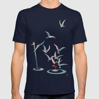 The Red Fish Mens Fitted Tee Navy SMALL
