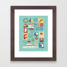 Parks And Recreation Framed Art Print