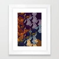 Graphic Geometric Framed Art Print