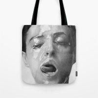 Monica Bellucci Traditional Portrait Print Tote Bag