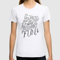 In Every Job That Must B… Womens Fitted Tee Ash Grey SMALL