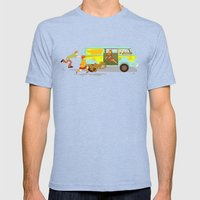 Little Mystery Machine Mens Fitted Tee Tri-Blue SMALL