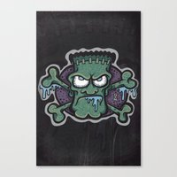 TURN THE CRANK, IT'S TIM… Canvas Print