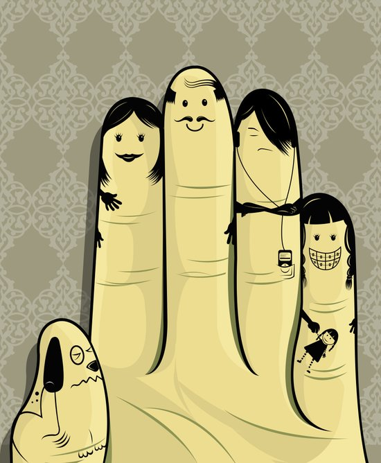 The finger family Canvas Print