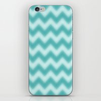 Chevron Turquoise Berry iPhone & iPod Skin