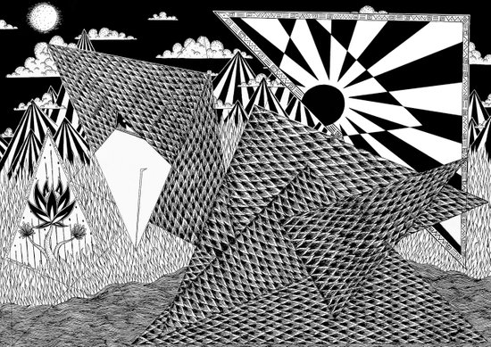 Bird Crossing over the full moon Art Print