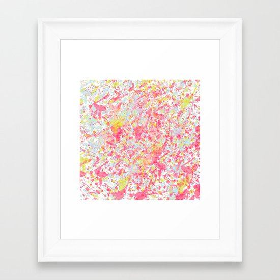 Explosion of blossoms Framed Art Print