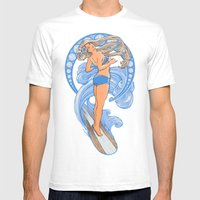 Surf Nouveau Mens Fitted Tee White SMALL