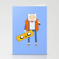 Marty McFinn & Jake the Hoverboard Stationery Cards