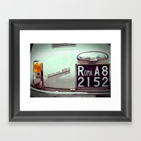 To Rome With Love Framed Art Print