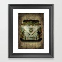 Classic VW  Micro Bus Wi… Framed Art Print