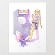 90s Sailormoon Art Print