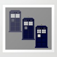 The Materializing TARDIS Art Print