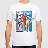 Storm and Sunny Day Trooper Mens Fitted Tee Ash Grey SMALL