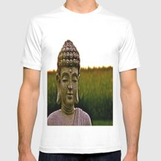 A Peaceful Mind, Makes a Happy Heart White Mens Fitted Tee SMALL