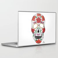 day of the dead Laptop & iPad Skins featuring Day Of The Dead by Alex + Orlaith