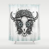 The Spirit Of The Buffal… Shower Curtain