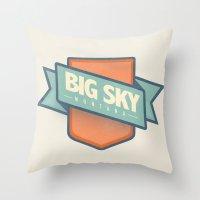 Big Sky, Montana Throw Pillow