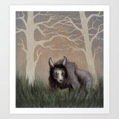 Forest Beastie Art Print