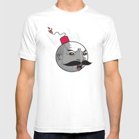 Ottobomb Mens Fitted Tee White SMALL