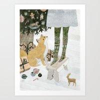 Christmas Tree Decoratin… Art Print