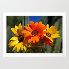 Sunny Day Wildflowers Art Print