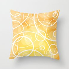 Hard Line Bokeh Throw Pillow