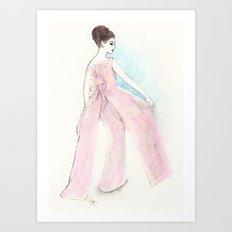 'Ava' Watercolor Fashion Illustration Art Print