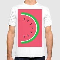 Red Watermelon - Summer time Mens Fitted Tee White SMALL