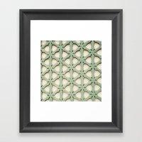 Jade Lattice Framed Art Print