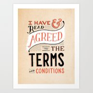 Art Print featuring Terms And Conditions by Daily Dishonesty