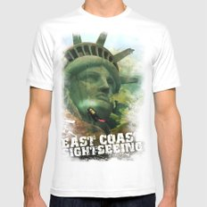 East Coast Sightseeing Mens Fitted Tee White SMALL