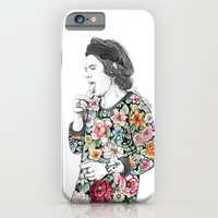 iPhone Cases featuring Harry Styles sketch  by Coconut Wishes