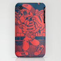 iPhone 3Gs & iPhone 3G Cases featuring Night at the yard by Dedos