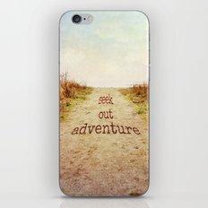 Seek out adventure iPhone & iPod Skin