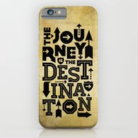 The Journey Is The Destination, Gold Map iPhone 6 Slim Case