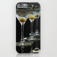 iPhone & iPod Case featuring Three Martini's and three olives.  by Wood-n-Images