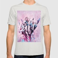 Thistle and Weeds Mens Fitted Tee Silver SMALL