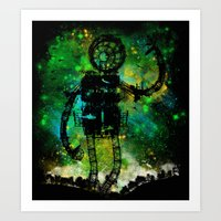 Mad Robot Art Print