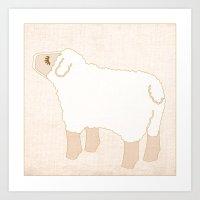 Sheep Animal Farm Series Art Print