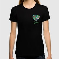 In Circles Womens Fitted Tee Black SMALL