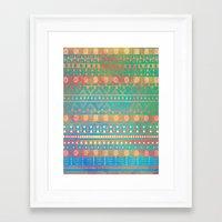 Inspired Aztec Pattern 2 Framed Art Print