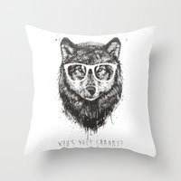 Who's your granny? (b&w) Throw Pillow