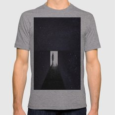 Stars Way To Heaven Mens Fitted Tee Athletic Grey SMALL