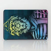 Hipster Lion Black and White iPad Case