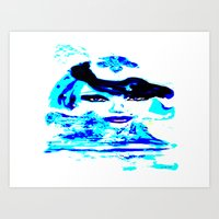 Water Women_02 Art Print